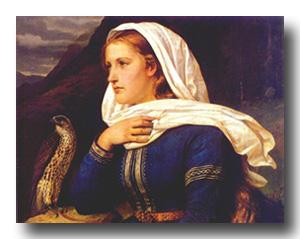 Ingeborg a painting by Peter Nicolai Arbo (1831-1892)