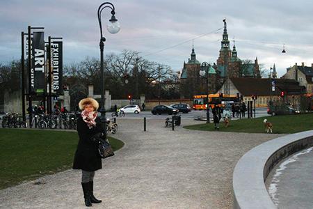Carolyn in Copenhagen. Cold and wonderful. I will return someday.